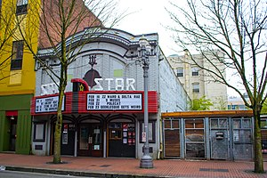 Star Theater (Portland, Oregon) - The venue's front entrance, 2013