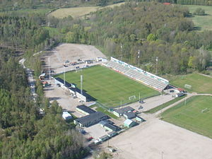 Division 1 (Swedish football) - Skarsjövallen in Ljungskile.