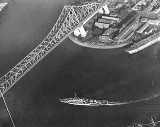 1953 in Australia - Aerial view of the Story Bridge, 1953