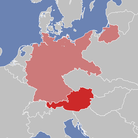 The territory of the German Reich and Austria after World War I