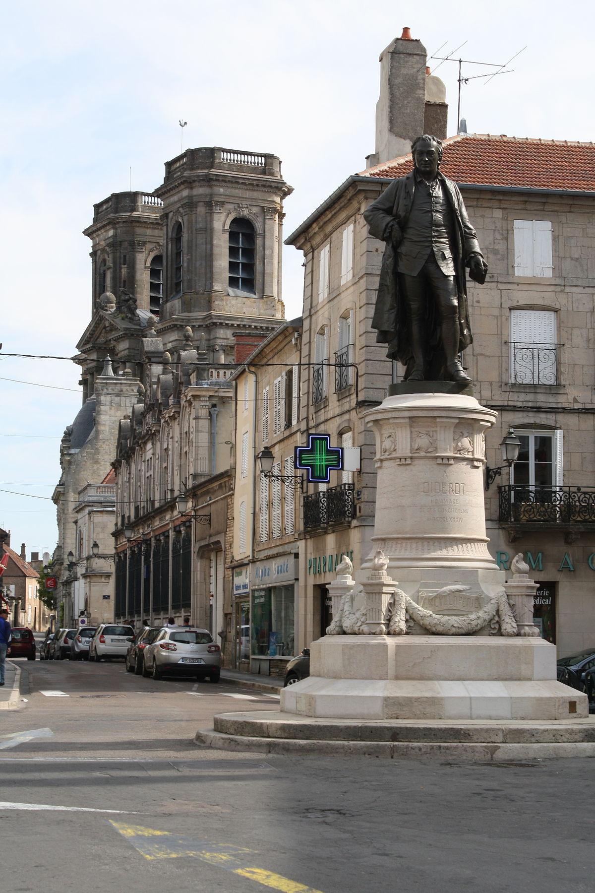 statue de denis diderot langres � wikip233dia