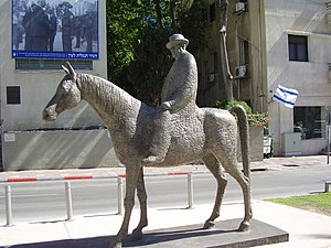 Meir Dizengoff - A statue of Meir Dizengoff riding his horse, located on Rothschild Boulevard, Tel Aviv
