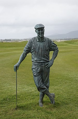 Payne Stewart - Statue of Payne Stewart at Waterville Golf Links, Ireland
