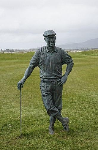 Payne Stewart - Statue of Payne Stewart at Waterville Golf Links, Ireland