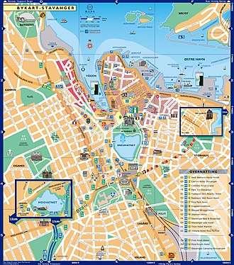 City map - City map of Stavanger (Norway).