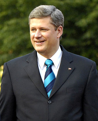 Stephen Harper, 22nd Prime Minister of Canada and former leader of the Conservative Party of Canada. The Party is colloquially called the Tories in Canada. Stephen Harper G8 2007.jpg