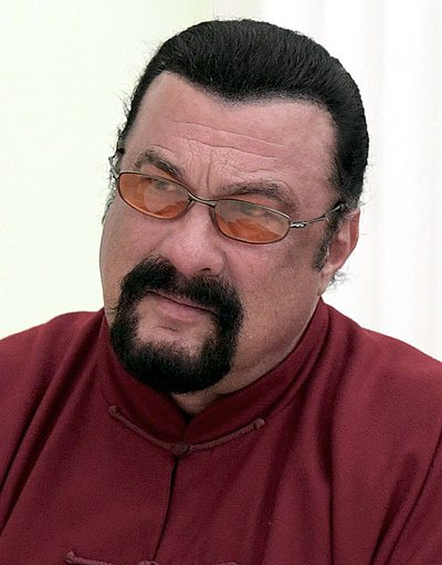Steven Seagal, American-Serbian-Russian actor, martial artist, and film producer