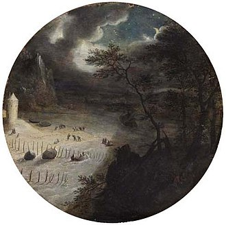 Pieter Stevens II - Fishing at night