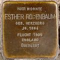 Stolperstein Arnstadt Rankestraße 1-Esther Rosenbaum.JPG