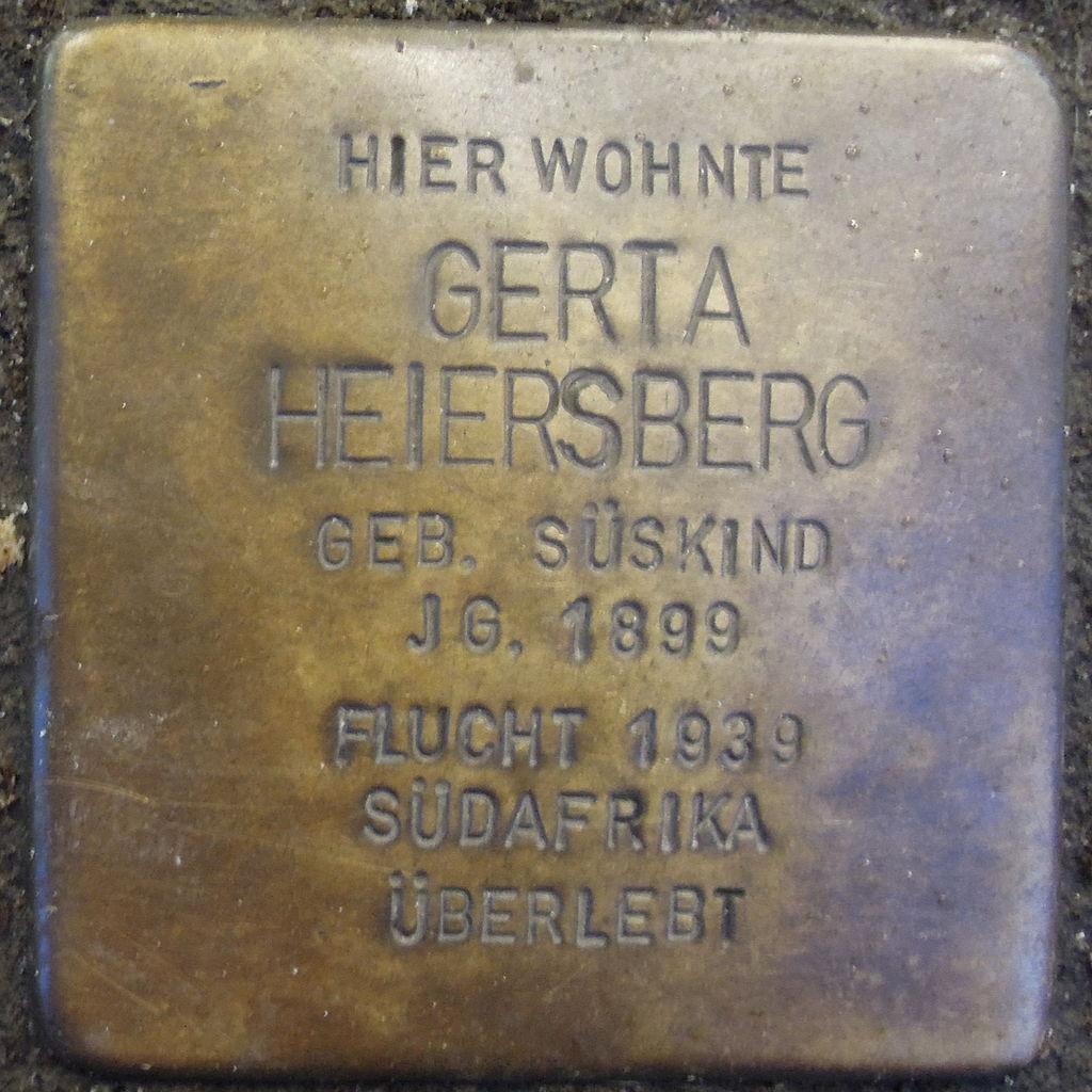 Stolperstein für Gerta Heiersberg geb. Süskind