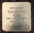 Stolperstein Englerallee 25 (Dahle) Toni Stolper.jpg