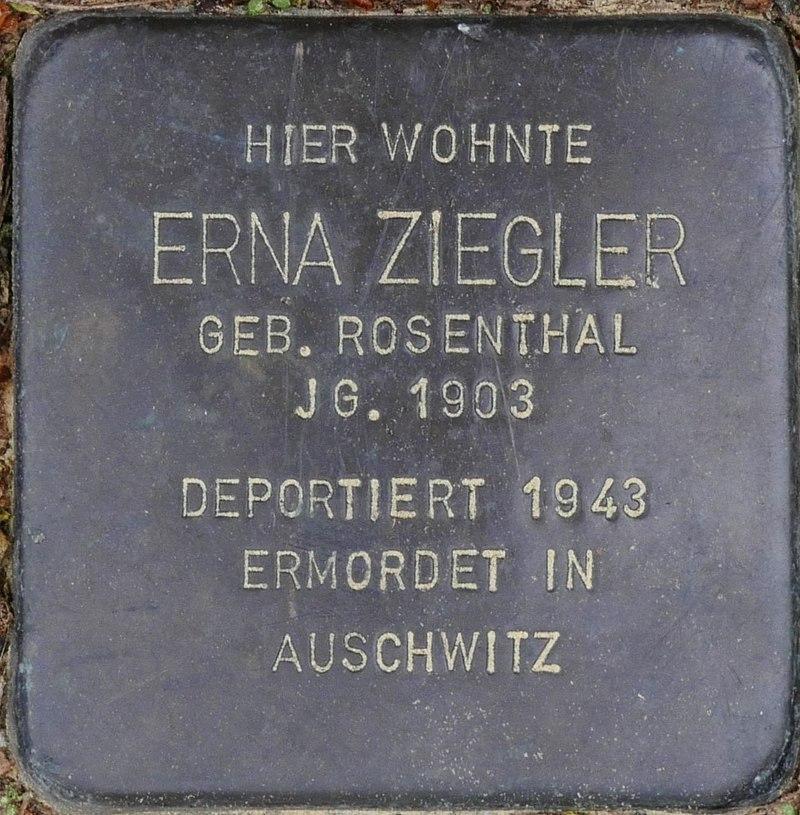 Stolperstein für Erna Ziegler