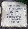 Stolperstein Helmstedter Str 29 (Wilmd) Frieda Baumgarten.jpg