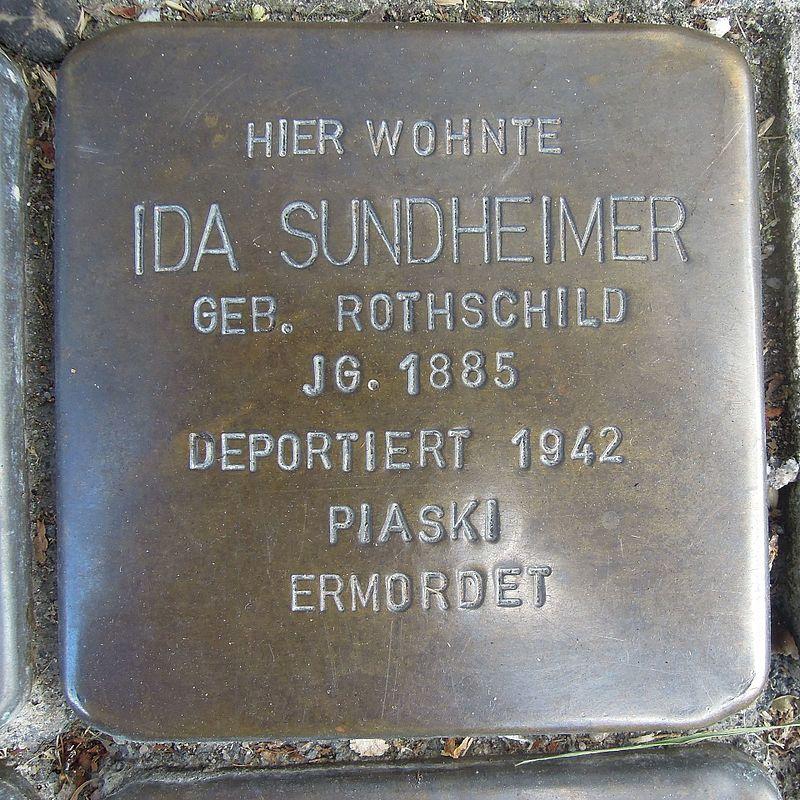 Stolperstein für Ida Sundheimer geb.Rothschild