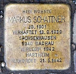 Photo of Markus Schattner brass plaque