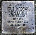 Stolperstein Schmarjestr 9b (Zehl) Ruth-Rosa Benjamin.jpg