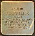 Stolperstein für Balkanyi Elek (Lendava).jpg