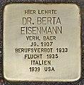 Stolperstein für Dr. Berta Eisenmann (Heidelberg).jpg