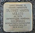 Stolperstein für Dr. Ernst Martin Müller, Bahnhofstraße 74, Chemnitz (1).JPG