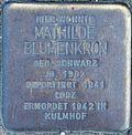 Stolperstein for Mathilda Blumenkorn (Blaubach 67)