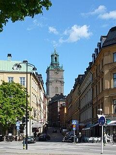 Storkyrkobrinken street in Gamla stan, Stockholm, Sweden