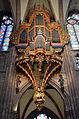 Strassburger Muenster Cathedrale Strasbourg Schwalbennestorgel frontal Brunswyk (2014).JPG