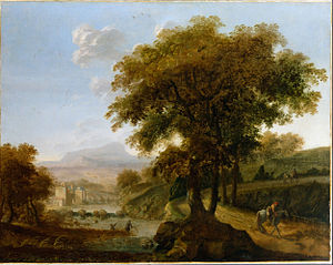 Robert Streater - Landscape by Streeter (Dulwich Picture Gallery