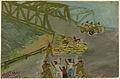 Strenge bewaking van de Gondolayu brug in het centrum van Jogyakarta Rijksmuseum NG-1998-7-24.jpeg