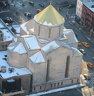 St. Vartan Armenian Cathedral - From above