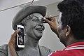 Subimal Das Making Raj Kapoor Sculpture - Kolkata 2017-08-08 4130.JPG
