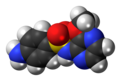 Sulfalene molecule spacefill.png