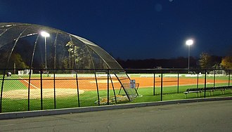 Summit High School (New Jersey) - Athletic field at night.