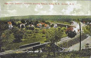 Summit, New Jersey - The Rahway Valley Railroad at Summit c. 1910s