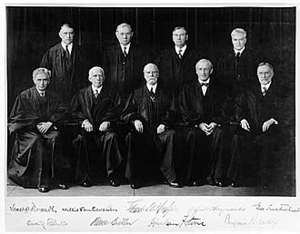 Judicial Procedures Reform Bill of 1937 - Image: Supreme Court 1932