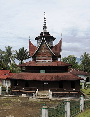 Surau - Late 19th-century village mosque (surau nagari) of Lubuk Bauk in Batipuh, West Sumatra.