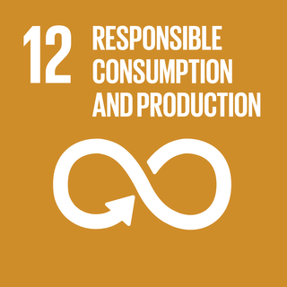 Sustainable Development Goal 12 The 12th of 17 Sustainable Development Goals to ensure responsible consumption and production