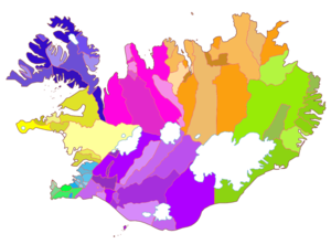 Municipalities of Iceland - Lower-level municipality map of Iceland