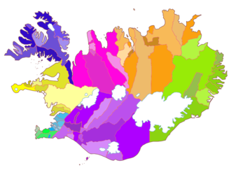 Administrative divisions of Iceland - The municipalities of Iceland.