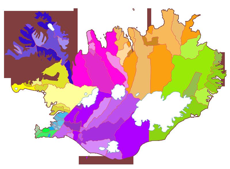 Sveitarfélög-landsvæði