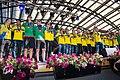 Sweden national under-21 football team celebrates in Kungsträdgården in July.jpg