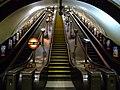 Swiss Cottage tube station escalators centre.jpg
