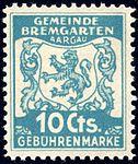 Switzerland Bremgarten 1940 revenue 10c - 22.jpg