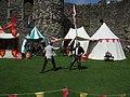 Sword fight at Beaumaris Castle - geograph.org.uk - 2001020.jpg