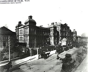 Macquarie Street, Sydney - The Sydney Hospital, after rebuilding was completed in 1894.