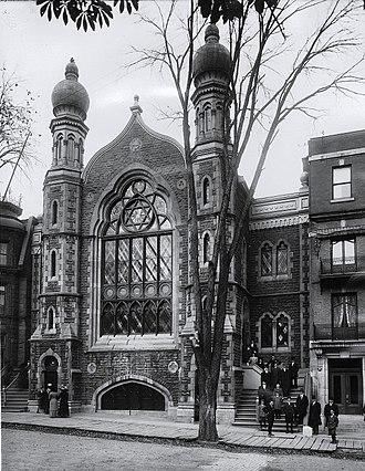 Congregation Shaar Hashomayim - Former building of Shaar Hashomayim on McGill College Avenue