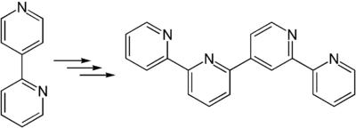 Synthese von 2,2′:4′,2′′:6′′,2′′′-Quaterpyridin