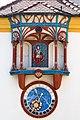 Szekesfehervar Historical Facade Clock Closeup 01.JPG