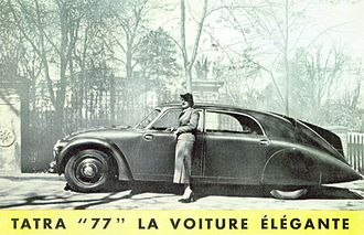 "Tatra 77 - ""Tatra 77, the elegant car"": contemporary advertisement"