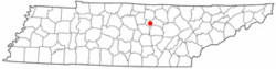 Location of Baxter, Tennessee