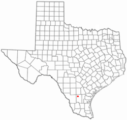 Location of Freer, Texas